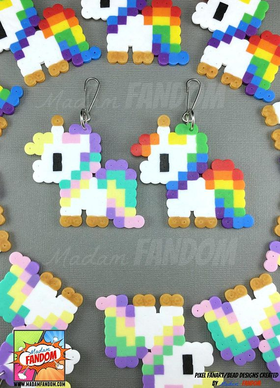 12 Unicorn Party Favors Zipper Pulls Unicorn Valentines
