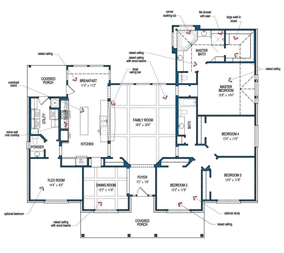 Floor Plan How To Plan Custom Home Plans House Plans