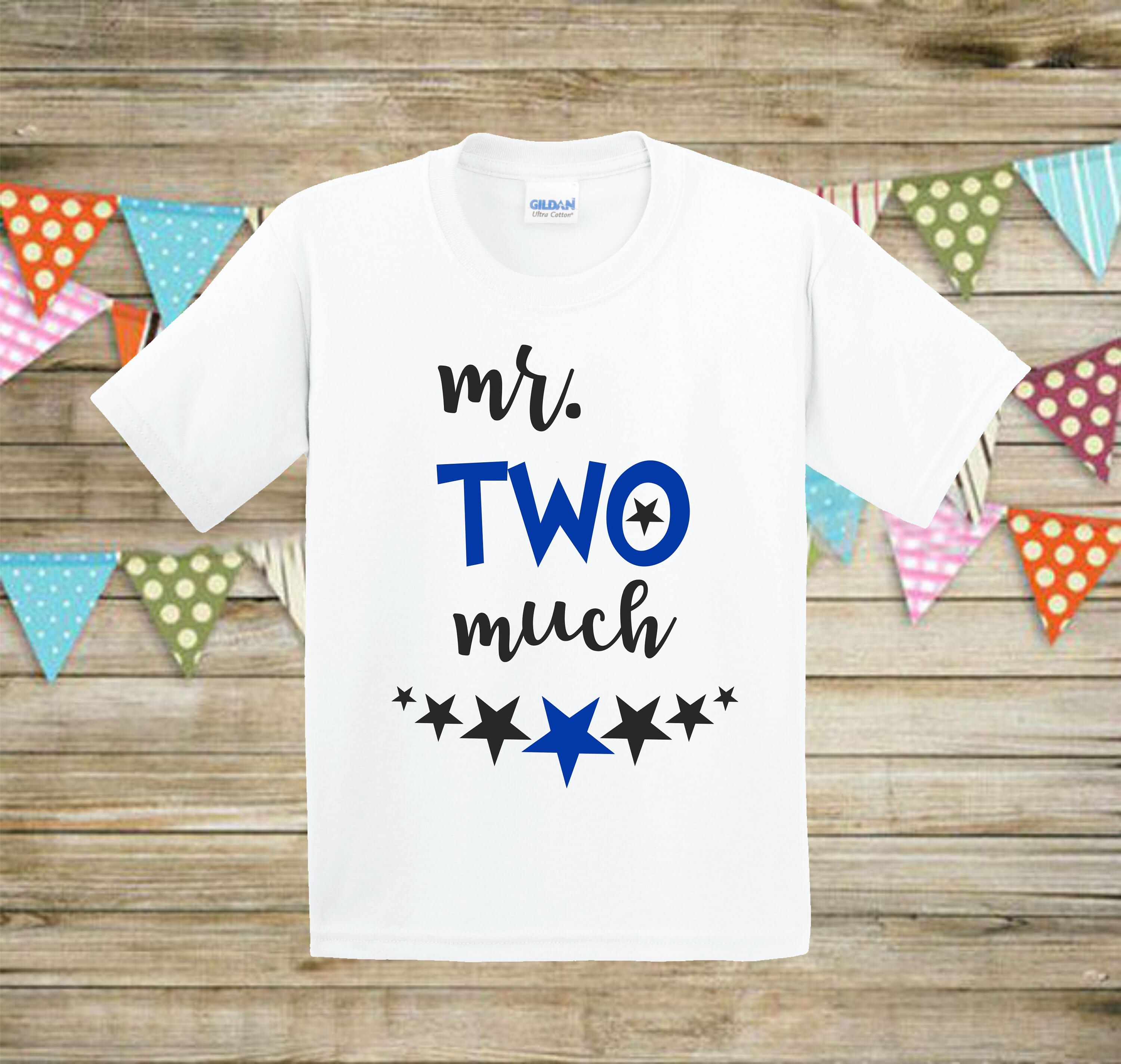 Mr Two Much Second Birthday Boy Baby 2nd Shirt Outfit