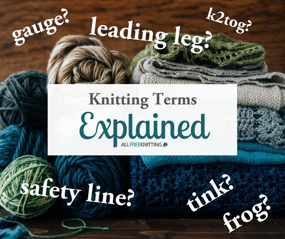 The Knitting Dictionary | Pinterest | Knitting terms, Knitting ...