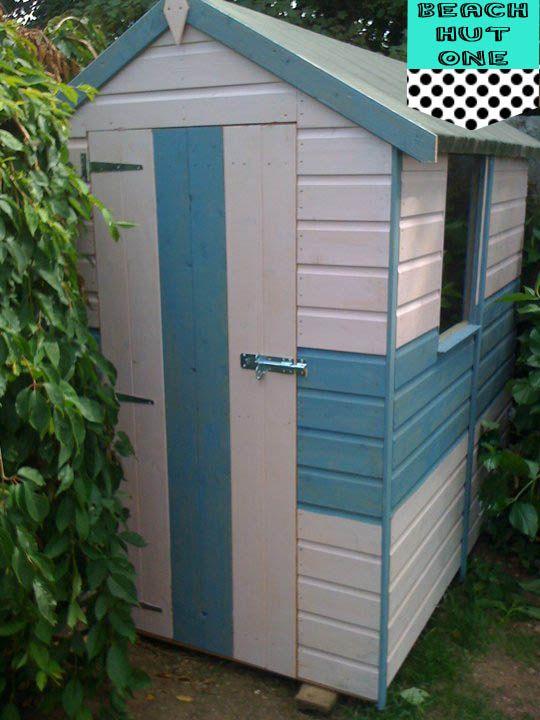 Shed painted like beach hut home pinterest beach for Beach hut ideas