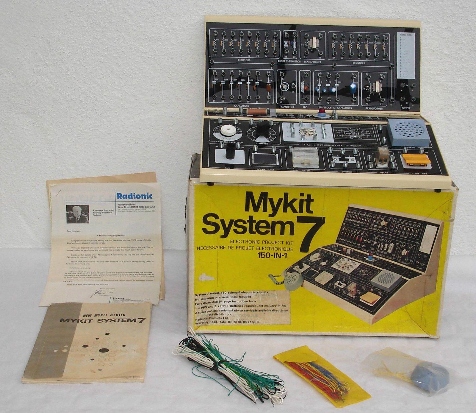 Mykit System 7 Elektronik Experimentierkasten von 1979 | eBay