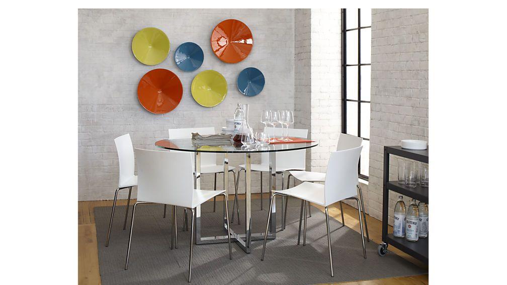 Silverado Chrome 47 Round Dining Table Reviews Round Dining