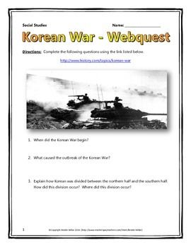 Korean war webquest with key history pinterest cold war this 6 page document contains a webquest and teachers key related to the history of the ccuart Images