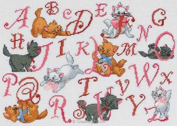 Broderie Au Point De Croix Dmc Kit Disney Abecedaire Aristochats Bl459 70 En Kit Broderie Point De Croix Broderie Et Point De Croix Abecedaire Point De Croix