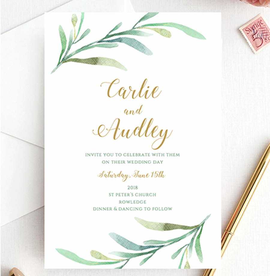 greenery printable wedding invites greenery invites by connie and