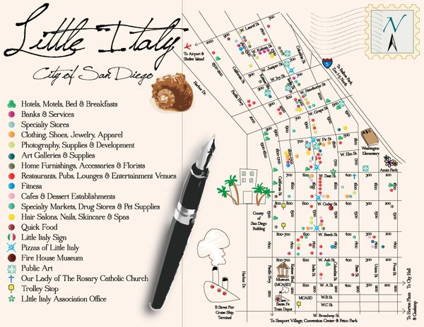 map little italy san diego Little Italy San Diego Map By Reina Taylor Via Behance San
