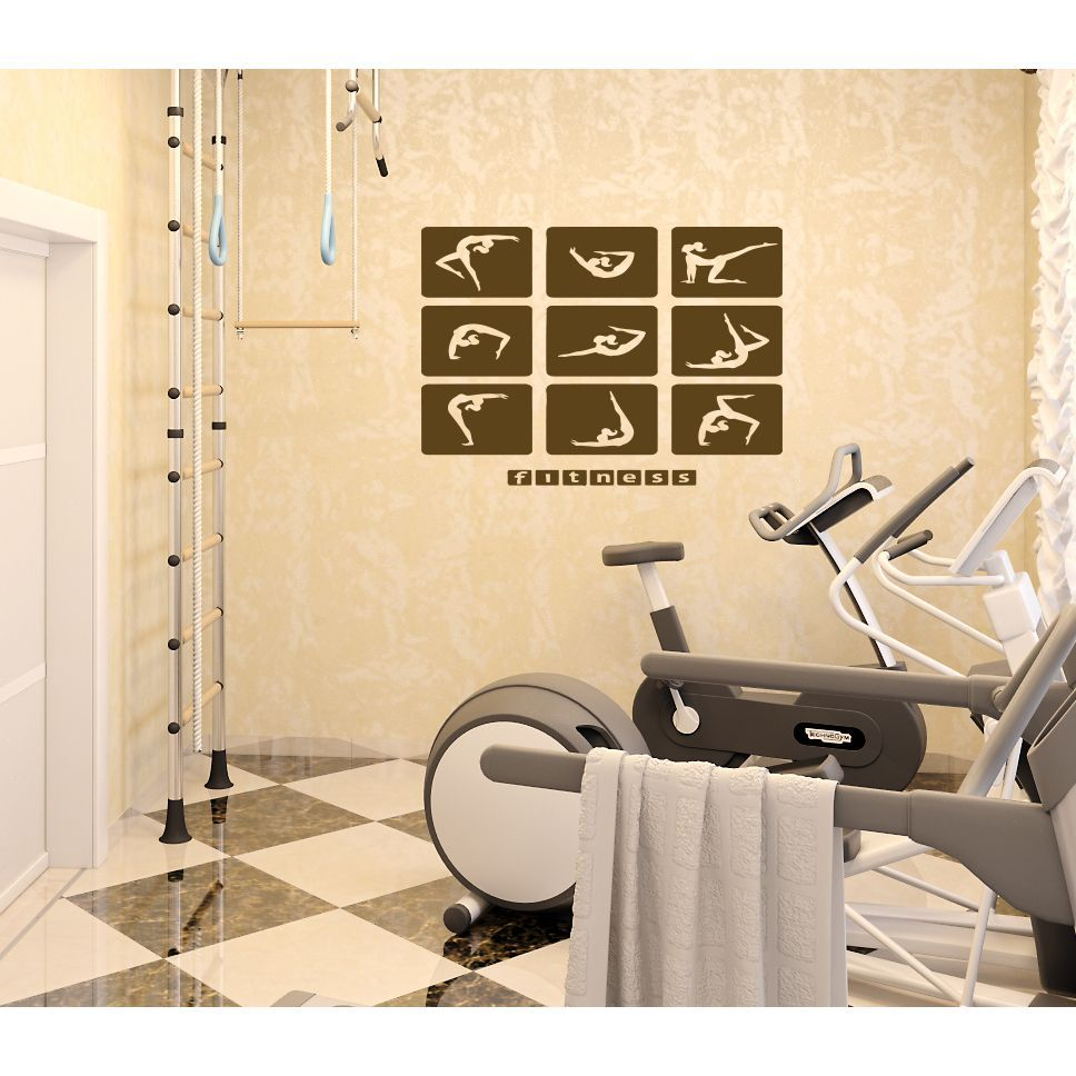 Fitness Pictures Wall Art Sticker Decal | Fitness Pictures ...