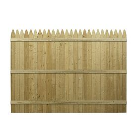 6 Ft X 8 Ft Spruce Gothic Wood Fence Panel Lowes 39 97