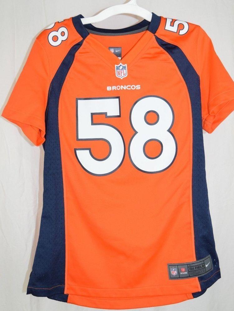 873f2a49 Details about *IRREGULAR* Denver Broncos VON MILLER nfl NIKE Jersey ...