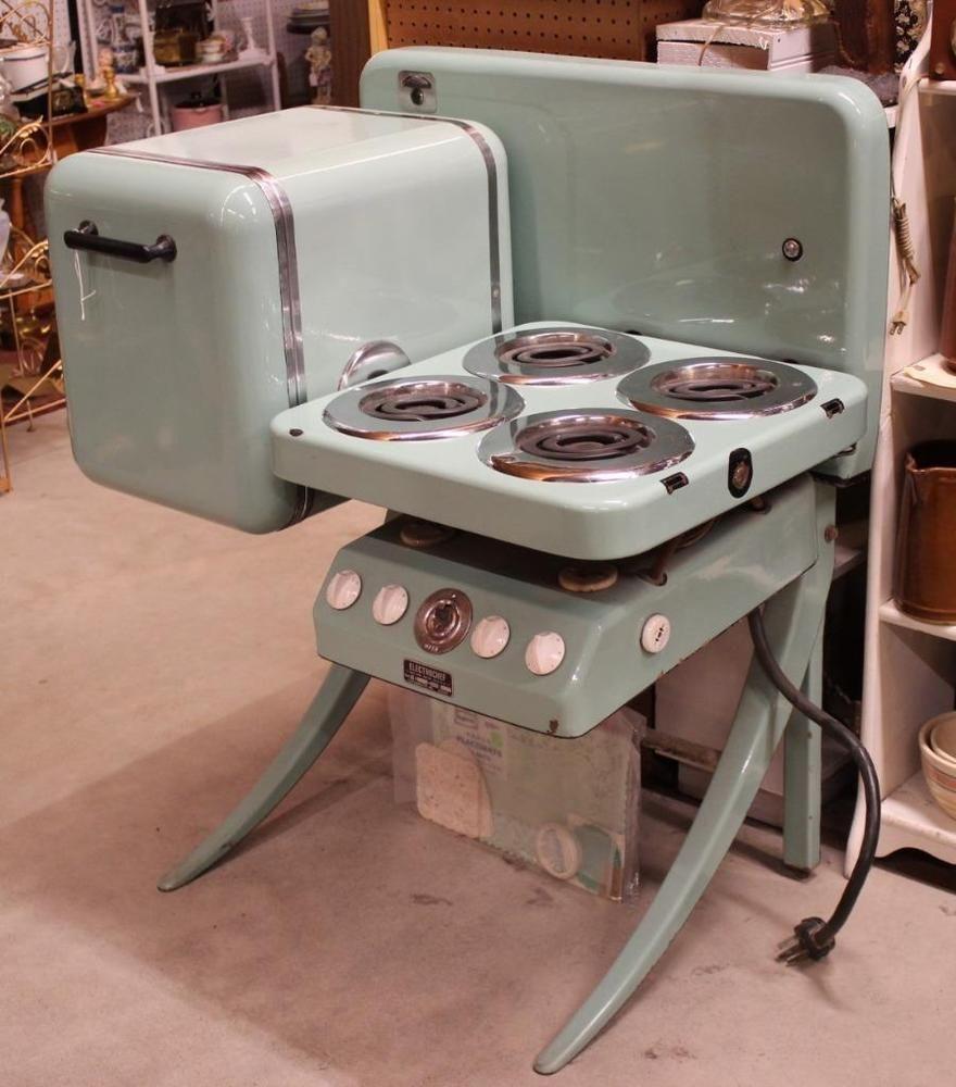 Futuristic 19 ElectroChef Art Deco Jadeite Enamel Kitchen