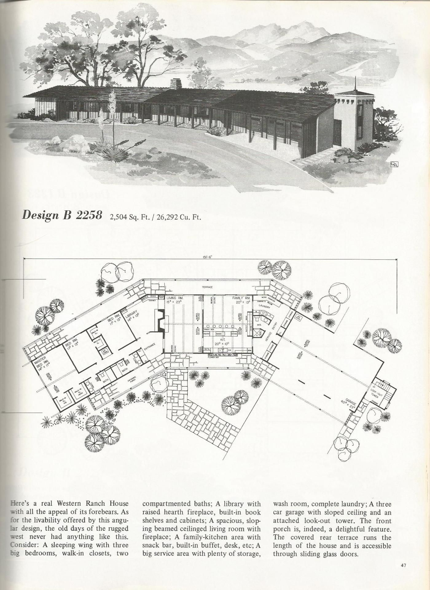 vintage house plans western ranch houses vintage house