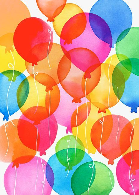 Margaret Berg Art: Balloon+Rainbow+ | color my world | Pinterest ...