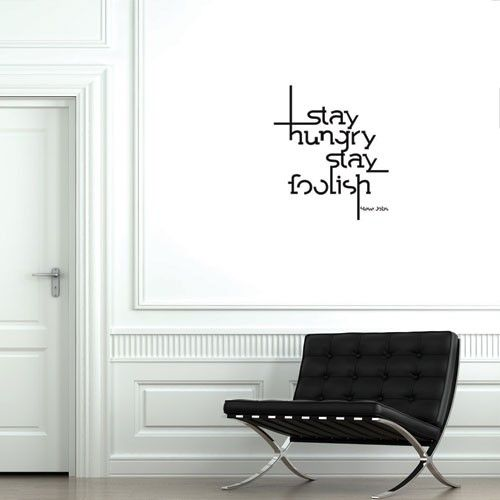 Get Some Insperation From Steve Jobs This Cool Wall Decal Quotes - Custom vinyl wall decals sayings for office