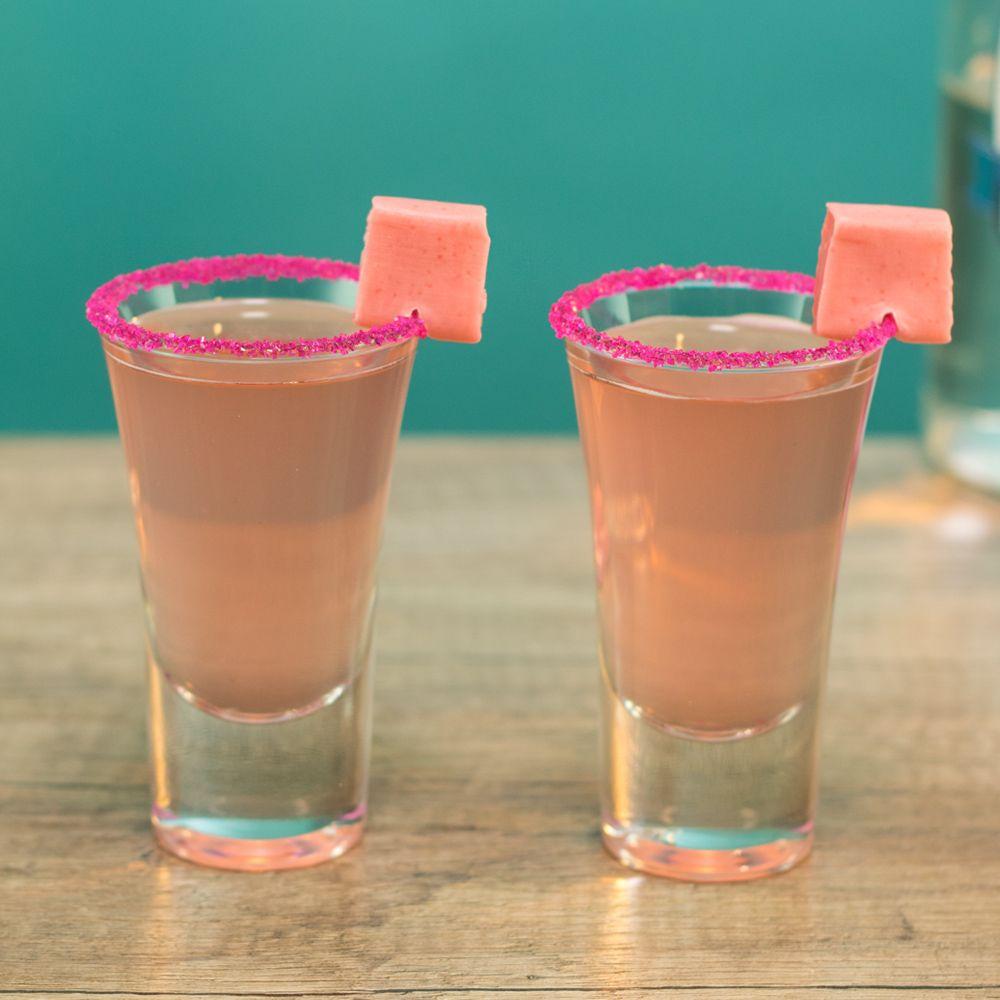 Pink Starburst Shots Tipsy Bartender Recipe Shots Alcohol Recipes Shooter Recipes Tipsy Bartender Recipes