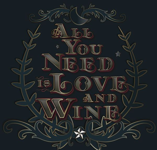 Love and Wine on Behance
