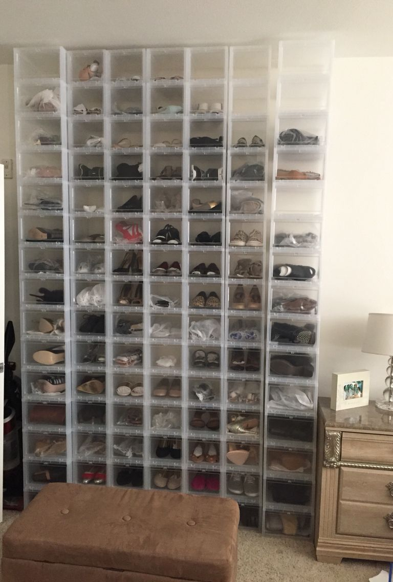 Container Store Drop Front Shoe Boxes A Mix Of The Regular Size