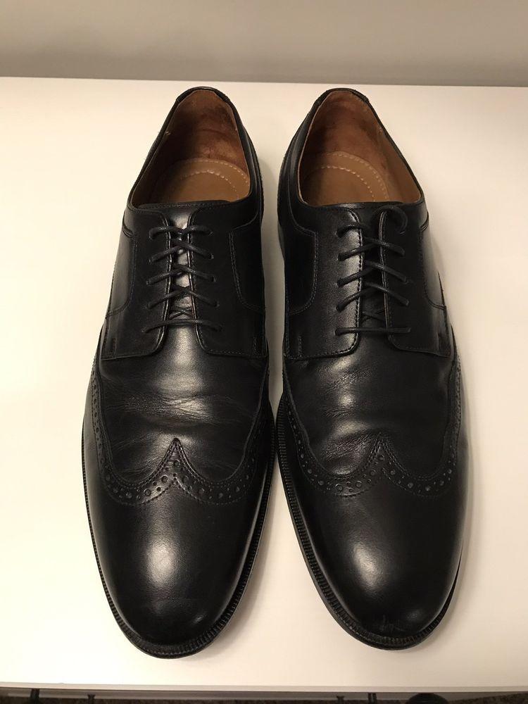 Johnston Murphy Black Wingtip Size 13 591075 Fashion Clothing