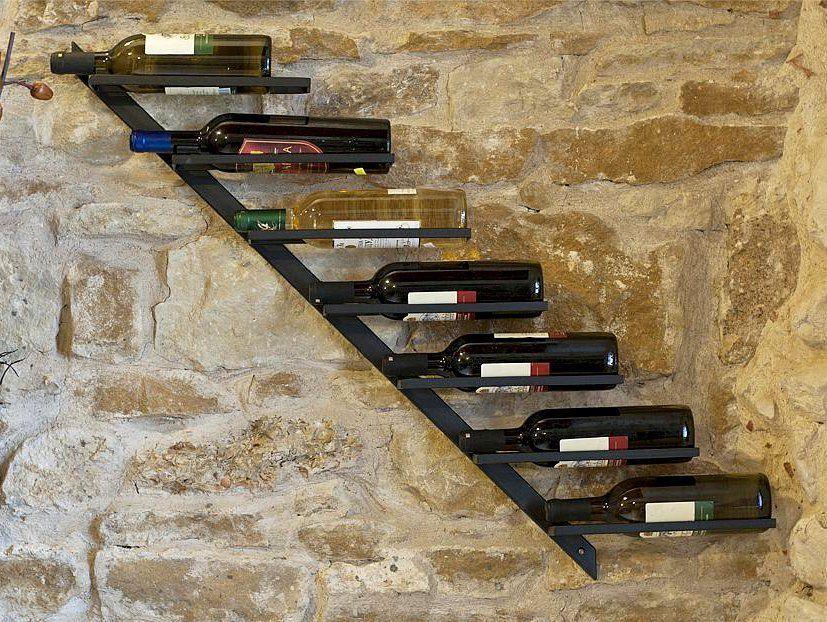Range Bouteilles étagère à Vin Diagon 100cm En Métal Porte