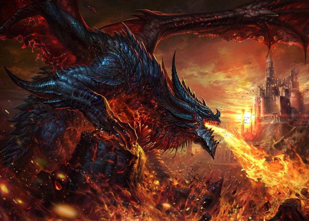 Dragon Fire Breath Fantasy Metal Poster Artzone Displate Dragon Artwork Fantasy Fire Dragon Fire Breathing Dragon
