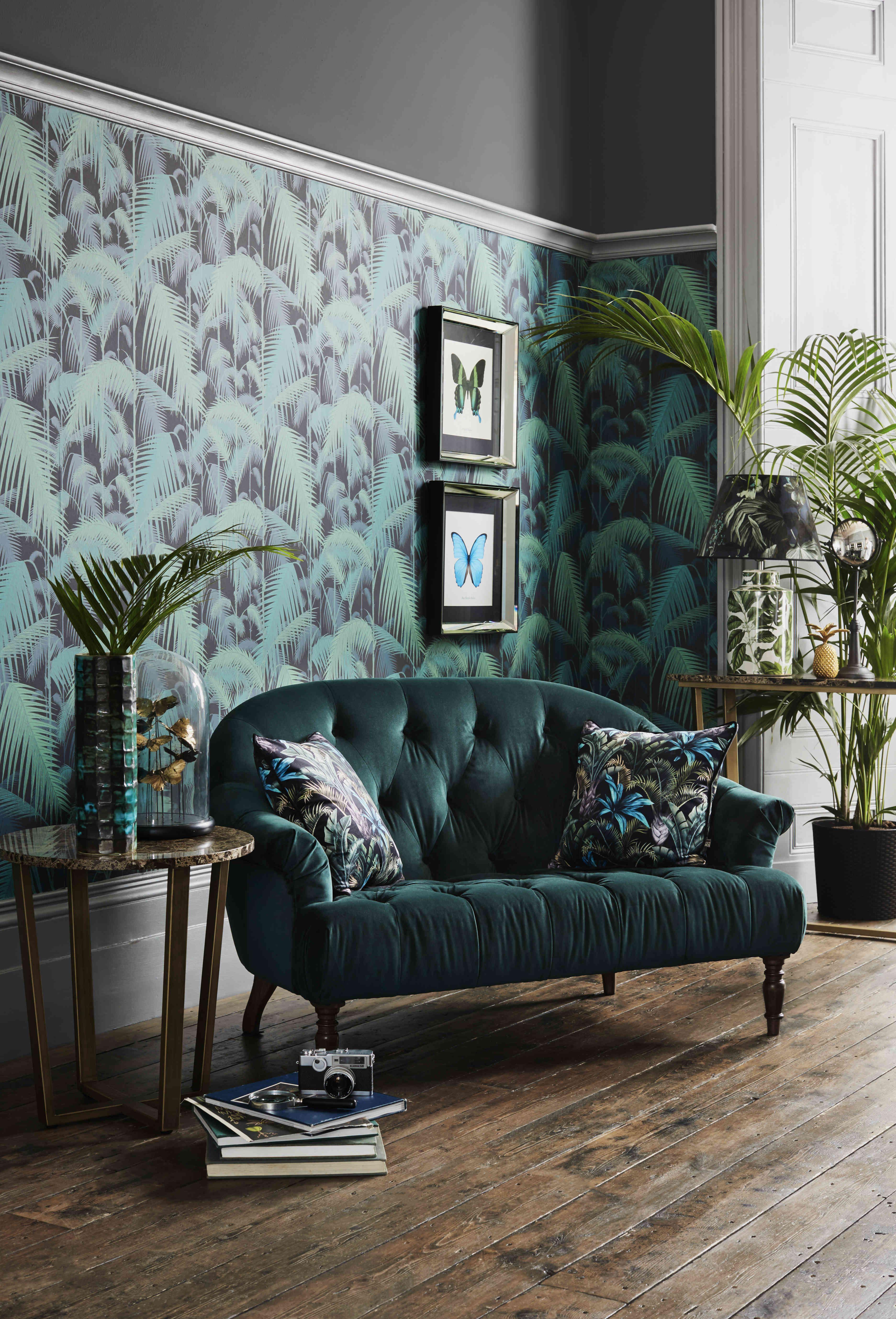Luxury Tropical Velvet Decor Ideas Green Interior Design Art