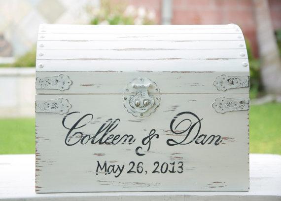 Wedding Card Box Card Box Wedding Wedding Gift Card Box Vintage Shabby Chic Wedding