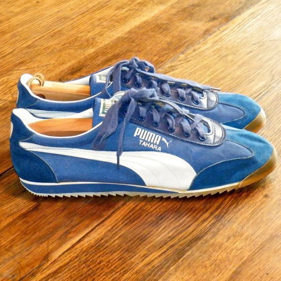 finest selection 29dde 80a4f Puma Tahara Blue Vintage Sneakers, Classic Sneakers, Vintage Shoes, Puma  Tennis Shoes