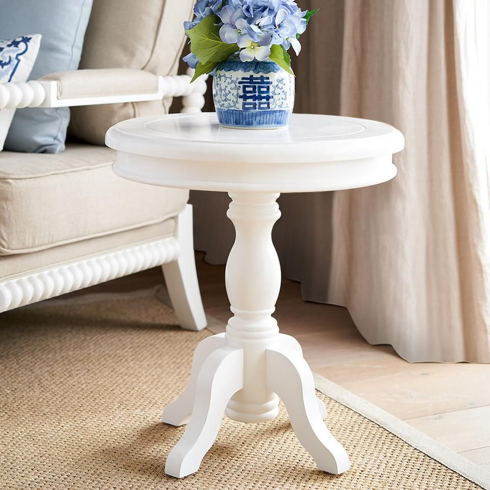 Round White Side Table White Side Tables White Round Side Table