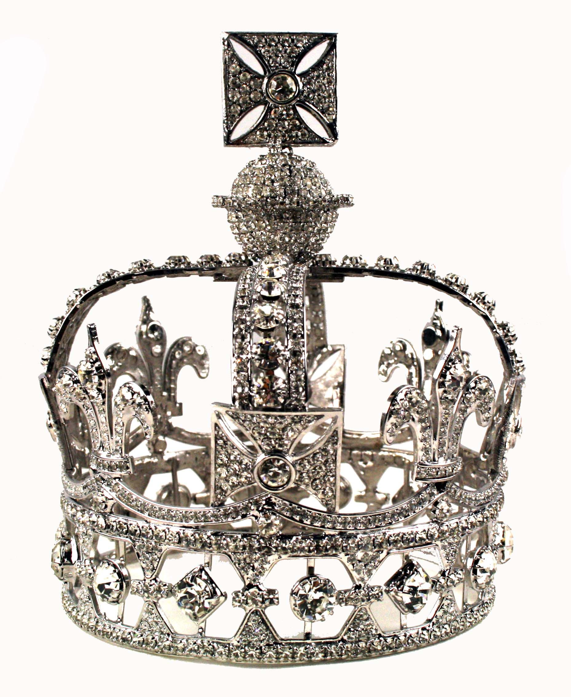 Queen Victoria's Diamond Crown. 1187 diamonds all came from a necklace she owned. She found the Imperial State Crown too heavy & could not be used with her mourning veil, and very much resented the complicated procedures involved when removing the crown from the Tower of London.