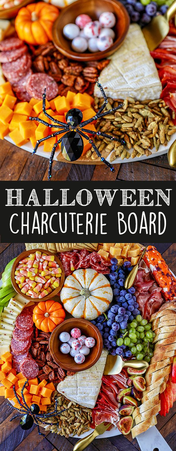 Harvest Charcuterie Board - Easy Fall Appetizer #halloweenappetizerideas