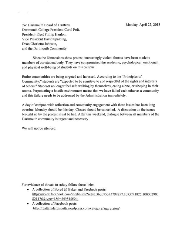 the dartmouth review letter that cancelled classes cancellation - gym contract template