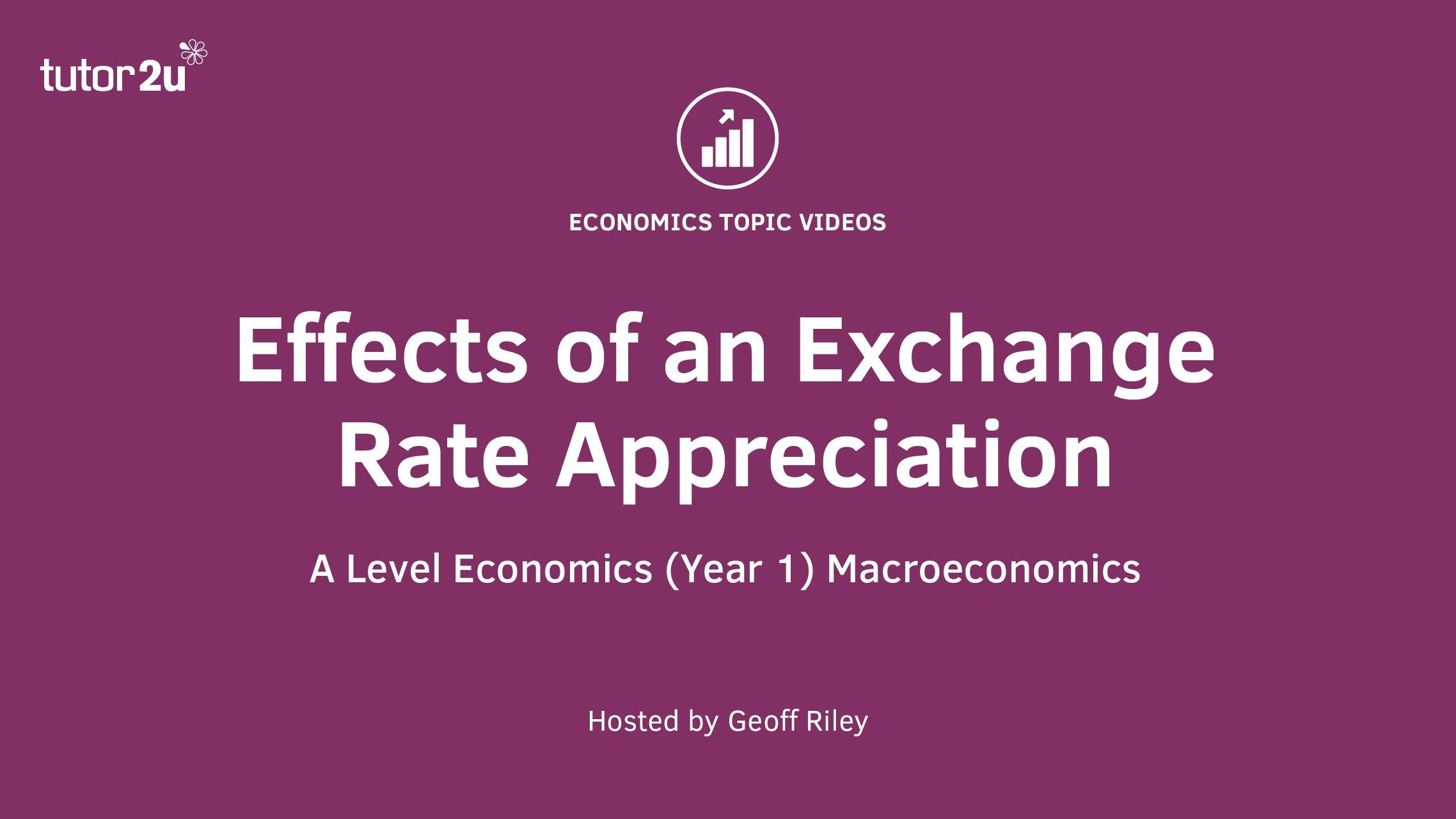 Impact of a Currency Appreciation