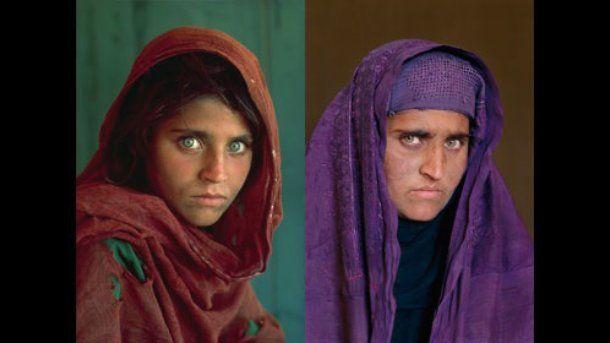 Afghan Girl Sharbat Gula In 1984 And 2002 Photographer Steve