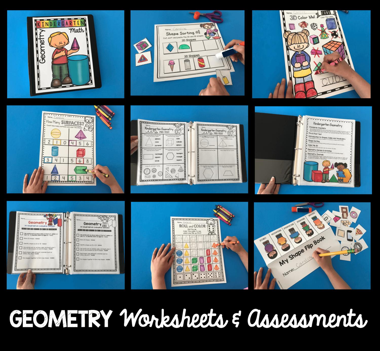 Kindergarten Geometry Unit Freebies In