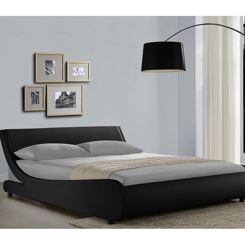 Karr Low Profile Bed Curved Bed Curved Bed Frame Platform Bed Low profile king bed frame