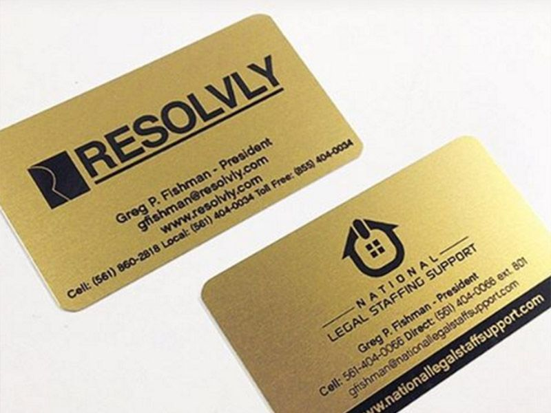 Gold Metal Business Cards To Stand Out From The Crowd Metal Business Cards Wood Business Cards Laser Engraved Business Cards