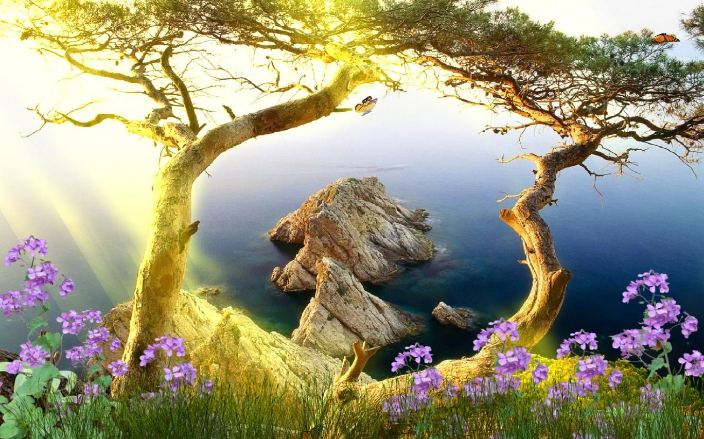 Free Download Beautiful Landscape Animated Wallpaper