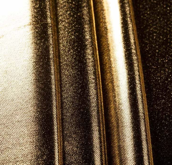 Swatch Order - 100% Polyester Foil Print Gold Fabric