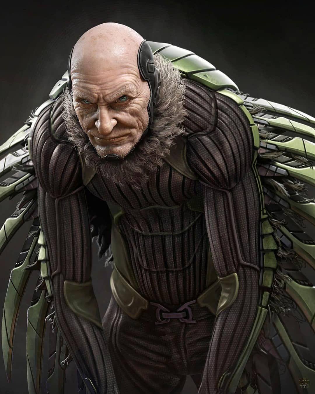 Super Realistic Arts Who Is Your Favorite Spider Man Villain Credit Rafagrassetti Follow Comics Marvel Superheroes Art Marvel Villains Vulture Marvel