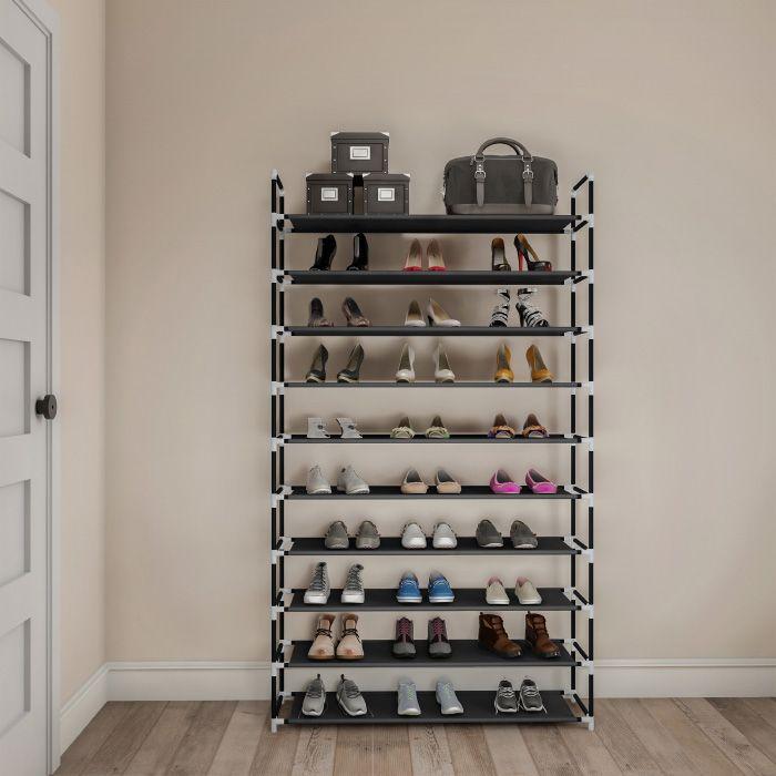 Shoe Rack-10 Tier Storage for Sneakers, Heels, Flats, Accessories, and
