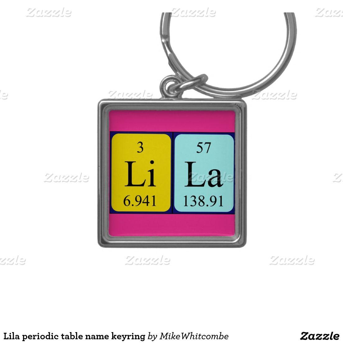 Lila periodic table name keyring silver colored square key ring lila periodic table name keyring silver colored square key ring urtaz Images