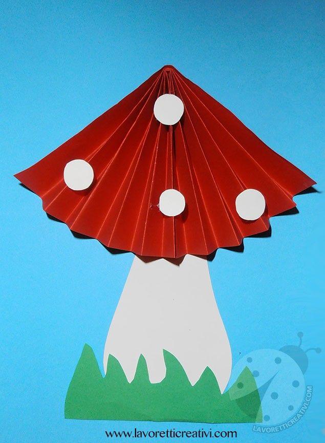 Funghi a fisarmonica per decorazioni autunnali addobbi for Addobbi autunno scuola infanzia
