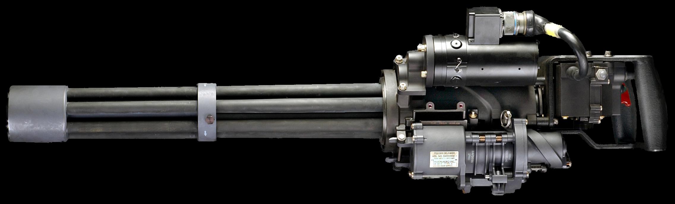 The M134 Minigun is a 7.62x51 mm NATO, six-barreled ...