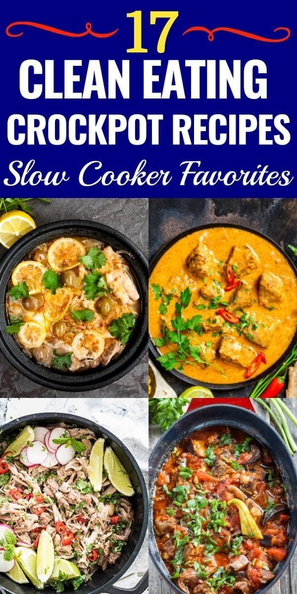 Photo of 17 Clean Eating Crockpot Recipes! Healthy Slow Cooking Dinner #healthycrockpotre…