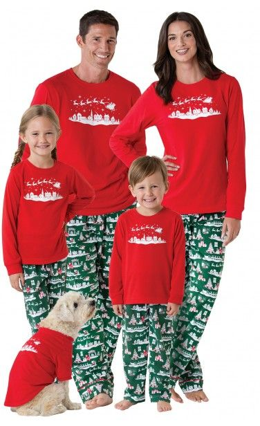 acfaf6e914 Mum Dad Little Big Boy Girl Christmas Elf Pyjamas Family Nightwear Sleepwear  Set. The Night Before Christmas Matching Family Pajamas