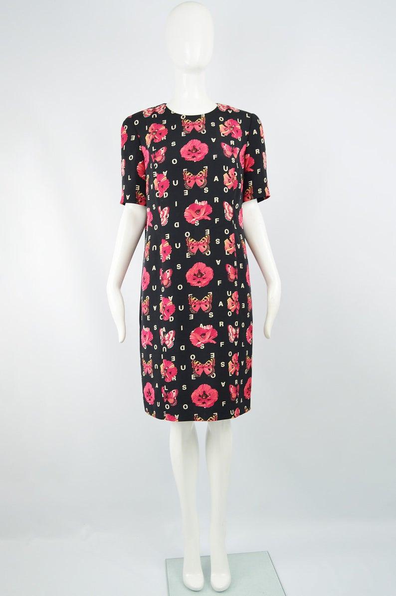 Vintage 80s Louis Feraud Silk Shift Dress Logo Print Spellout Etsy Silk Shift Dress Dress Logo Womens Shift Dresses [ 1194 x 794 Pixel ]