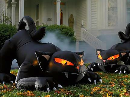 scary outdoor halloween blow ups wooden halloween yard decorations - Blow Up Halloween Decorations