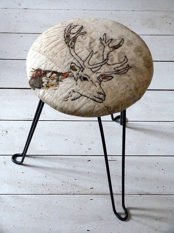 1950s Vintage French Stags Head Hairpin Stool by OrmstonSaintUK, £180.00