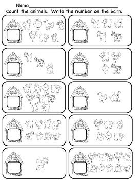 farm counting number worksheets farm animal worksheets preschool math farm unit. Black Bedroom Furniture Sets. Home Design Ideas