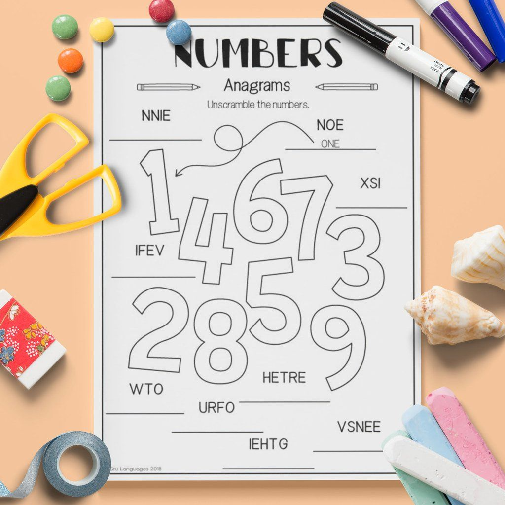 Numbers Anagrams